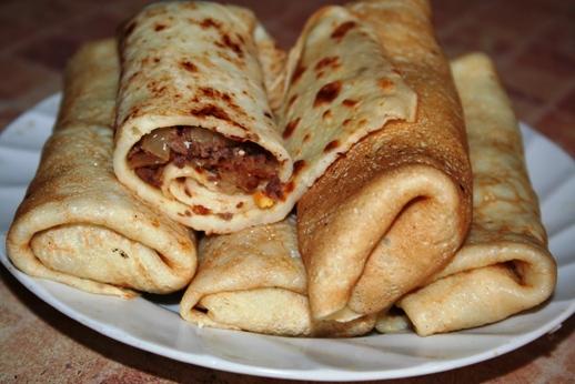 рецепт с фото блинчики с мясом
